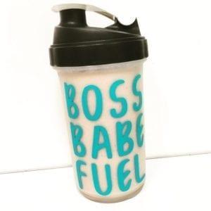 Boss Babe Fuel 27oz Shaker Bottle