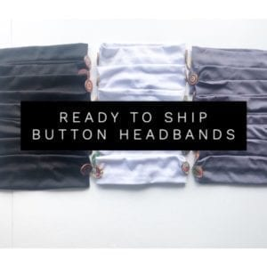 *Ready to Ship* Button Headbands